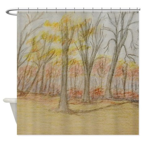 Fall Trees Shower Curtain Shower Curtain By