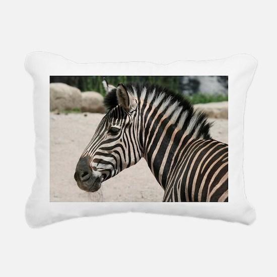 Zebra021 Rectangular Canvas Pillow