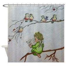 Angel Baby Shower Curtain Shower Curtain