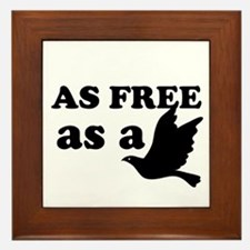 As Free as a Bird Framed Tile