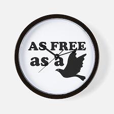 As Free as a Bird Wall Clock