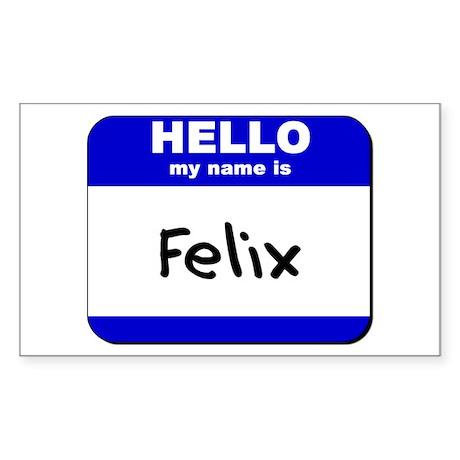 hello my name is felix Rectangle Sticker