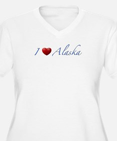 'I Love Alaska' Women's + Size V-Neck T-Shirt