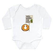 Will Wheek for Food Long Sleeve Infant Bodysuit