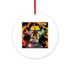 Athena's Dragon Logo Round Ornament