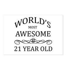 World's Most Awesome 21 Year Old Postcards (Packag