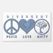 Divergent Peace Love Amity Decal