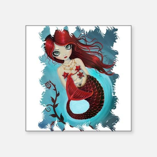 Ruby Mermaid Sticker