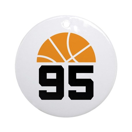 Basketball Number 95 Player Gift Ornament (Round)