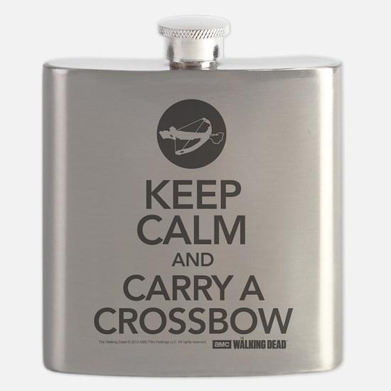 Keep Calm Carry A Crossbow Flask