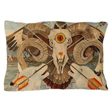 Two White Wolves Pillow Case