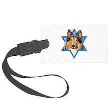 Hanukkah Star of David - Collie Luggage Tag