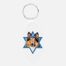 Hanukkah Star of David - Collie Keychains