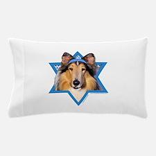 Hanukkah Star of David - Collie Pillow Case