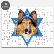 Hanukkah Star of David - Collie Puzzle
