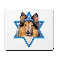 Hanukkah Star of David - Collie Mousepad