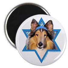 "Hanukkah Star of David - Collie 2.25"" Magnet (10 p"