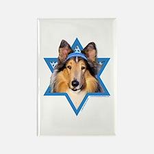 Hanukkah Star of David - Collie Rectangle Magnet