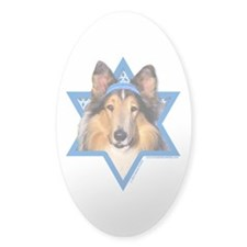 Hanukkah Star of David - Collie Decal