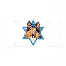 Hanukkah Star of David - Collie Aluminum License P