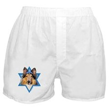 Hanukkah Star of David - Collie Boxer Shorts