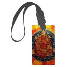 Turtle Island Luggage Tag