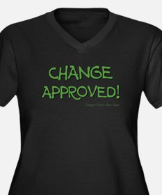 CHANGE APPROVED! Women's Plus Size V-Neck Dark T-S