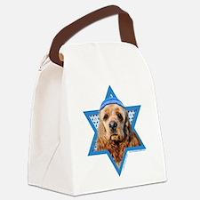 Hanukkah Star of David - Cocker Canvas Lunch Bag