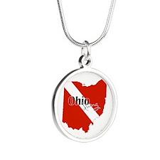Ohio Diver Silver Round Necklace