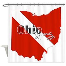 Ohio Diver Shower Curtain