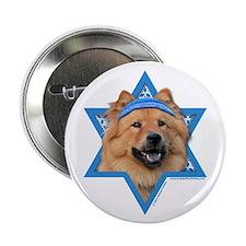 "Hanukkah Star of David - Chow 2.25"" Button (10 pac"