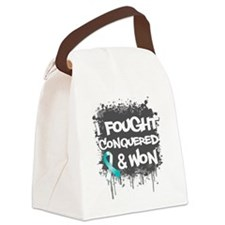 Cervical Cancer Fought Won Canvas Lunch Bag