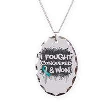 Cervical Cancer Fought Won Necklace Oval Charm