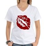 Kiss My Women's V-Neck T-Shirt