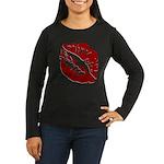 Kiss My Women's Long Sleeve Dark T-Shirt