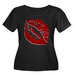 Kiss My Women's Plus Size Scoop Neck Dark T-Shirt