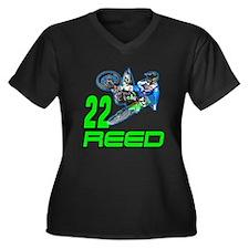 Reed 14 Women's Plus Size V-Neck Dark T-Shirt