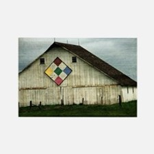 Only Memories, A Barn That Once W Rectangle Magnet
