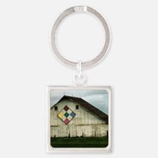 Only Memories, A Barn That Once Wa Square Keychain