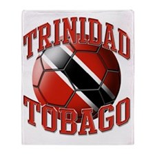 Flag of Trinidad Tobago Soccer Ball Throw Blanket