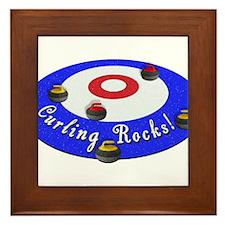 Curling Rocks! Framed Tile