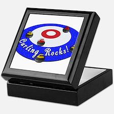 Curling Rocks! Keepsake Box