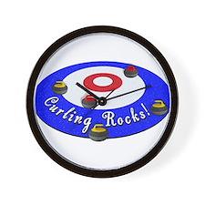 Curling Rocks! Wall Clock