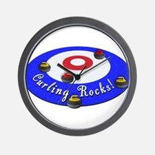Curling Rocks! Wall Clock