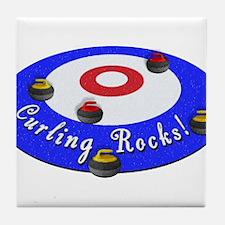 Curling Rocks! Tile Coaster