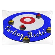 Curling Rocks! Pillow Case