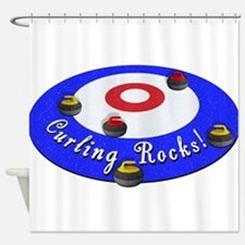 Curling Rocks! Shower Curtain