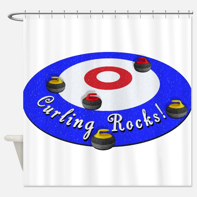 Curling Rocks! Shower Curtain
