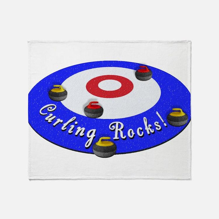 Curling Rocks! Throw Blanket