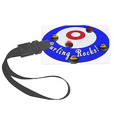 Curling Rocks! Luggage Tag